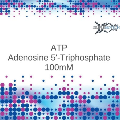 ATP 100mM stabilised at pH 7.5 with Tris base.