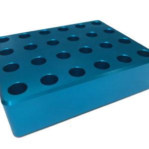 Labor Kühlrack Kühlblock zum Kühlen von Reaktionsgefäßen, aluminium cooling rack for reaction tubes