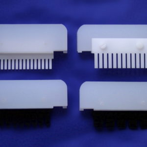 Electrophoresis comb compatible with Bio-Rad